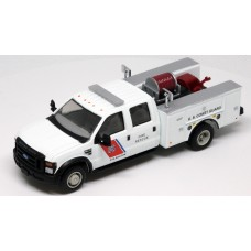 538-5402.24 - River Point Station 1/87 (HO) Scale 2008 Ford F-550 XLT 4X4 Crew Cab Dually Brush Fire Truck - USCG (Boston) White