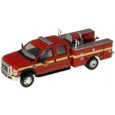 538-5402.79 - River Point Station 1/87 (HO) Scale 2008 Ford F-550 XLT4X4Crew Cab Dually Brush Fire Truck - Red/Striped