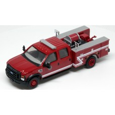 538-5402.82 - River Point Station 1/87 (HO) Scale 2008 Ford F-550 XLT 4X4 Crew Cab Dually Brush Fire Truck - Red/White