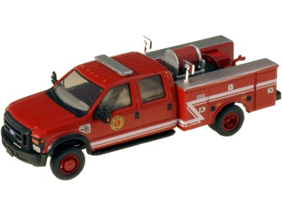 538-5402.82 - River Point Station 1/87 (HO) Scale 2008 Ford F-550 XLT4X4Crew Cab Dually Brush Fire Truck - Red/White