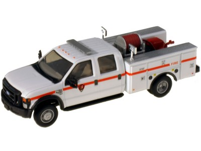 538-5402.88 - River Point Station 1/87 (HO) Scale 2008 Ford F-550 XLT4X4Crew Cab Dually Brush Fire Truck - Park Service, White/Red