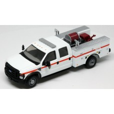 538-5402.88 - HO Scale River Point Station 2008 Ford F-550 XLT 4X4 Crew Cab Dually Brush Fire Truck - Park Service, White/Red