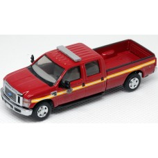 538-5657.79 - River Point Station Ford F-350 XLT Sport Crew Cab - Fire Department, Red/Chrome Trim