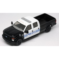 538-5657.P4 - River Point Station Ford F-350 XLT Crew Cab - Police, Black & White