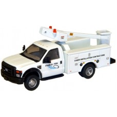 538-5726.51 - River Point Station - Ford F-450 XL Short Cab Service/Utility Bucket Truck - DRW HD -  Fiber-Tek Cable Installation Services (White)