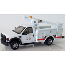538-5726.56 - HO Scale River Point Station Ford F-450 XL Short Cab Service/Utility Bucket Truck - DRW HD - Verizon (White)