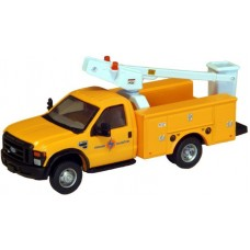 538-5726.58 - HO Scale River Point Station Ford F-450 XL Short Cab Service/Utility Bucket Truck - DRW HD - Edison Electric (Yellow)