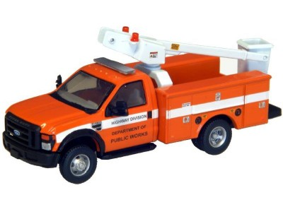 538-5726.63 - River Point Station Ford F-450 XL Short Cab Service/Utility Bucket Truck - DRW HD - DPW (Orange)