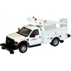 538-5729.73 - River Point Station - Ford F-450 XL Short Cab Service/Utility Hi-Rail Bucket Truck - DRW HD - BNSF (White)