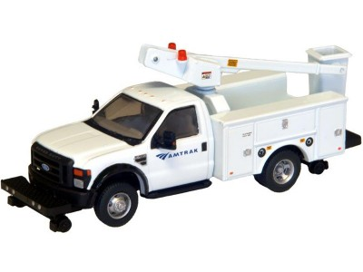 538-5729.90 - River Point Station - Ford F-450 XL Short Cab Service/Utility Hi-Rail Bucket Truck - DRW HD - Amtrak (White)