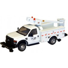 538-5729.92 - River Point Station - Ford F-450 XL Short Cab Service/Utility Hi-Rail Bucket Truck - DRW HD - Norfolk Southern (White)