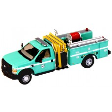 538-57A2.07 - HO Scale River Point Station 2010 Ford F-550 XLT Regular Cab Dually Mini-Pumper Fire Truck - US Forestry, Green