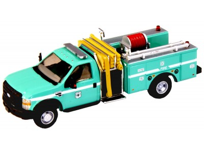538-57A2.07 - HO Scale River Point Station 2010 Ford F-550 XLTRegular Cab Dually Mini-Pumper Fire Truck - US Forestry, Green