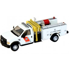 538-57A2.24 - HO Scale River Point Station 2010 Ford F-550 XLT Regular Cab Dually Mini-Pumper Fire Truck - US Coast Guard, White