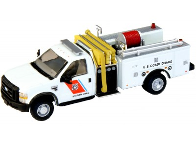 538-57A2.24 - HO Scale River Point Station 2010 Ford F-550 XLTRegular Cab Dually Mini-Pumper Fire Truck - US Coast Guard, White