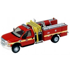 538-57A2.79 - HO Scale River Point Station 2010 Ford F-550 XLTRegular Cab Dually Mini-Pumper Fire Truck - Fire Department, Red