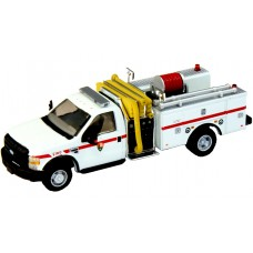 538-57A2.88 - HO Scale River Point Station 2010 Ford F-550 XLT Regular Cab Dually Mini-Pumper Fire Truck - Park Service, White/Red Stripe