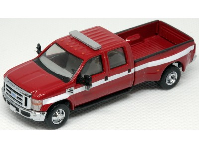 538-5955.R5 - River Point Station Ford F-450 XLT Sport Crew Cab Dually - Fire Dept. Red/White, Chrome Trim