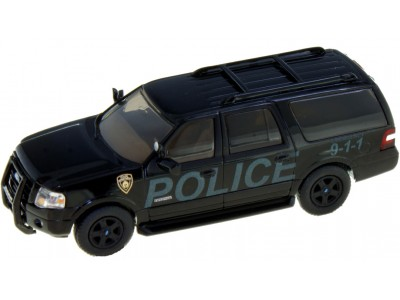"538-7607.P3 - River Point Station 2007 Ford Expedition EL SSP - Black ""Stealth""; Police"