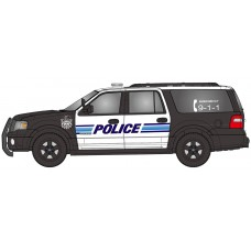 538-7607.P4 - River Point Station 2007 Ford Expedition EL SSP - Black & White; Police
