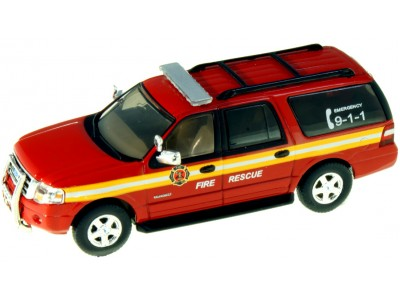 538-7607.R2 - River Point Station 2007 Ford Expedition EL SSP - Red; Fire Rescue