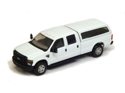 536-5697.01 - HO Scale River Point Station Ford F-350 XL Crew Cab With Contour Cap - White